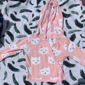 Carter's kimono style cat sweater